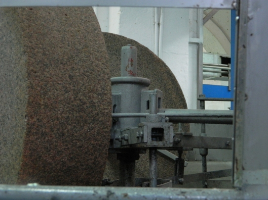Giant rounds of granite for the gentle press.