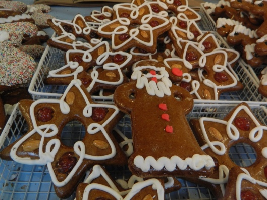 Gingerbread is an old recipe that originally was made with just flour, honey and spices. It has remained a favorite cookie, each baker presenting their own flair for design.