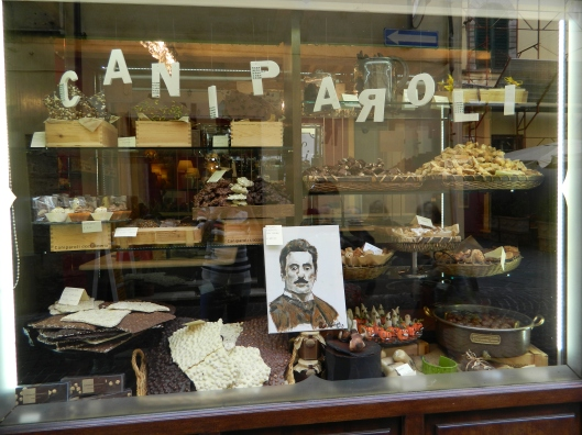 A chocolate lover's paradise. I love the photo of the man. Who is he?