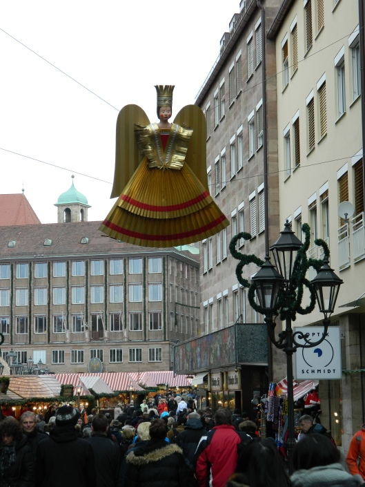This gold angel is a symbol of the Nuremburg Christmas.