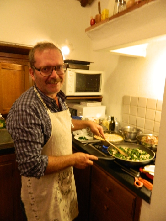 The chef Nicola in his element.