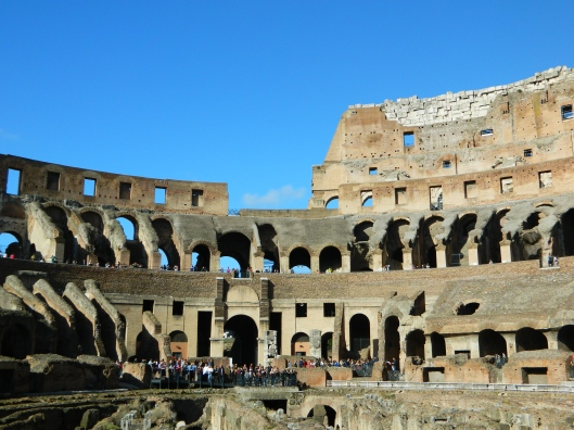 The Coliseum, home to many fighters, exotic animals and public executions. Standing on center stage is overwhelming.