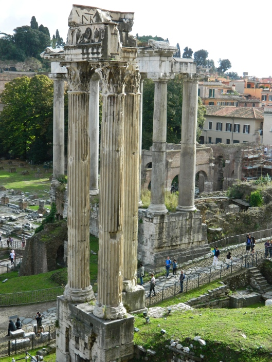 """The Temple of Vesta. Vestal Virgins were priestesses of Vesta, the goddess of the hearth, chosen at a young age to guard and maintain the """"fire of Rome"""" and to carry out sacred rites.They were sworn to celibacy for 30 years. In return, they lived lavishly, were free to own property and to vote."""