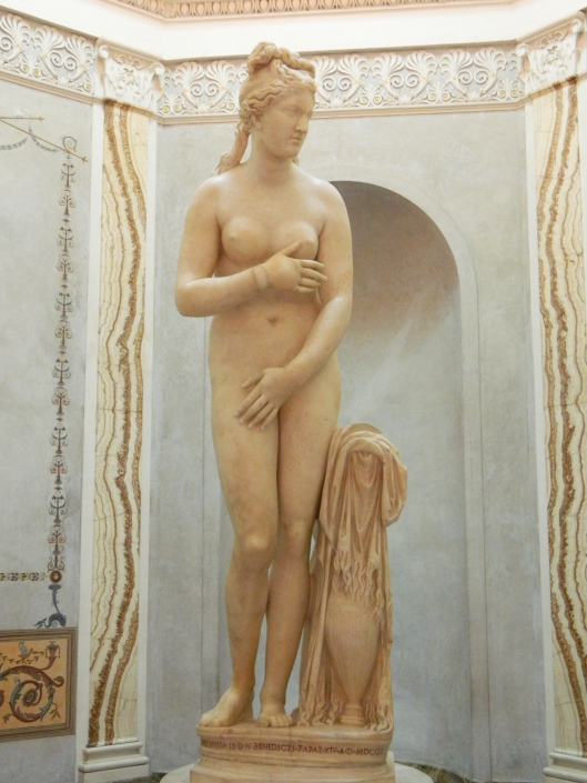 The sublime and sensuous Goddess Venus in her splendor sculpted in the 4th century B.C.
