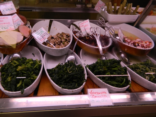 Most gourmet shops sell these cooked greens, ready to use as a side or to be used as a base for more elaborate dishes.