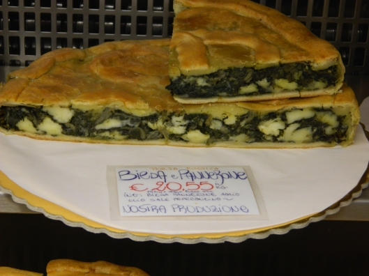 Inticing vegetable tortes.