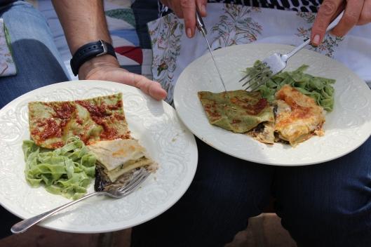 Ravioli, fettucine and lasagne. Italian heaven.