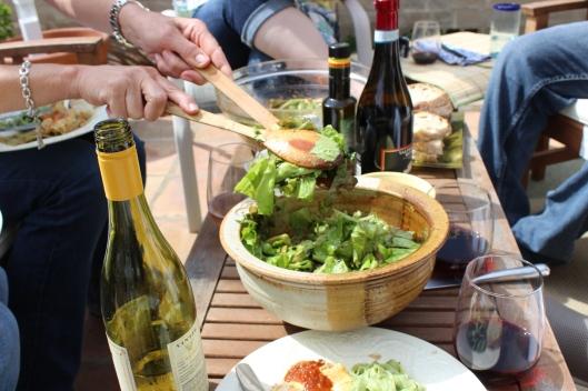 Green garden salad.
