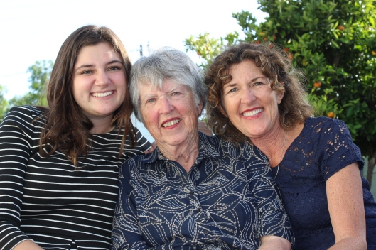 A trio of generations gathers to celebrate Mom and our friendships.