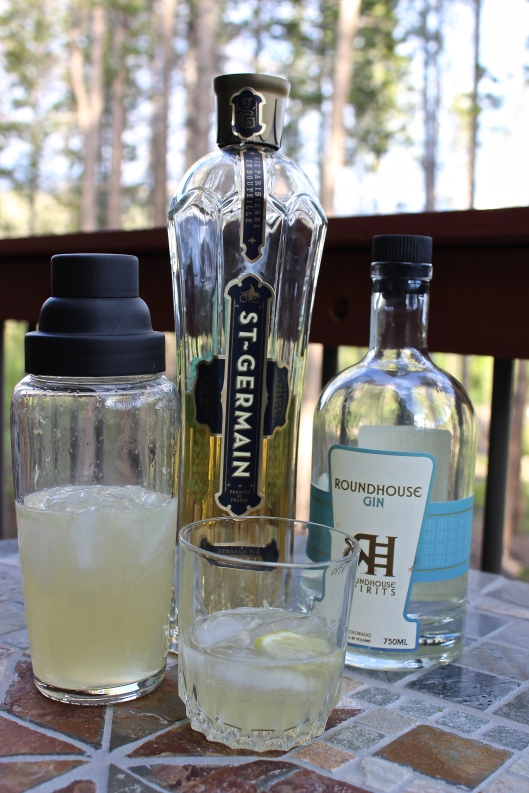 St. Germain's citrus-forward with hints of floral essence tames the bolt of gin.