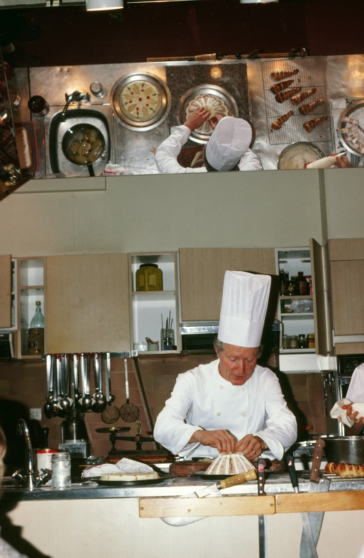 The demo station at La Varenne and my favorite teacher ever - Albert Jorant, master pastry chef with personality plus.