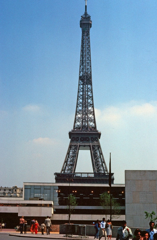 My first view of the Eiffel Tower at age 23.
