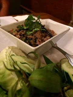 Northern Larb bursting with flavor and complemented by fresh herbs.