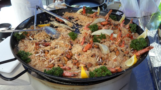 Paella at the Vaison la Romaine market in the Haut Vaucluse region of France. Yummy!