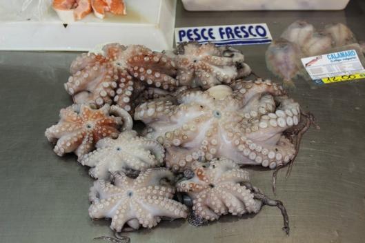 Dinner. Octopus soup.
