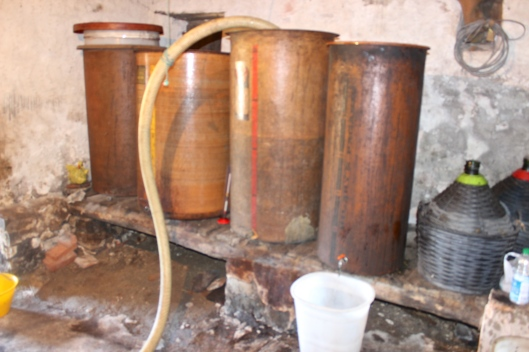 Copper vats