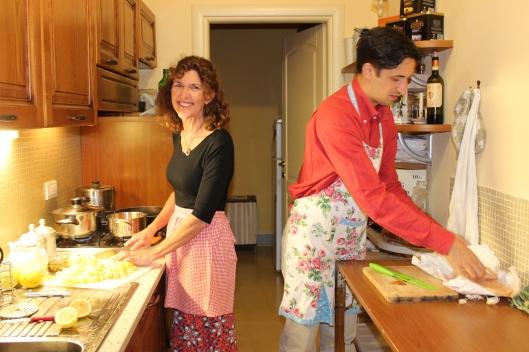 Mattia teaches me the Lucchese way to cook.