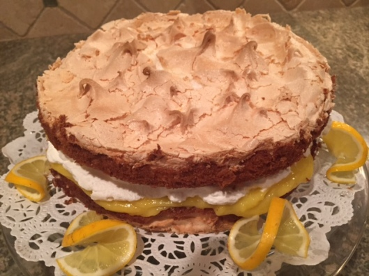 Lemon Meringue Cake. Delightful!