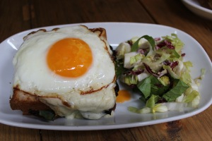 Brunch of Croque Madam ala italiano.