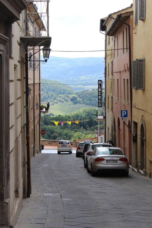 Chiusi's beautiful view of Tuscany.