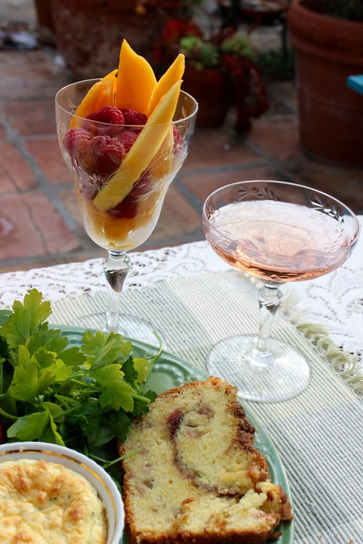 fruit and rose